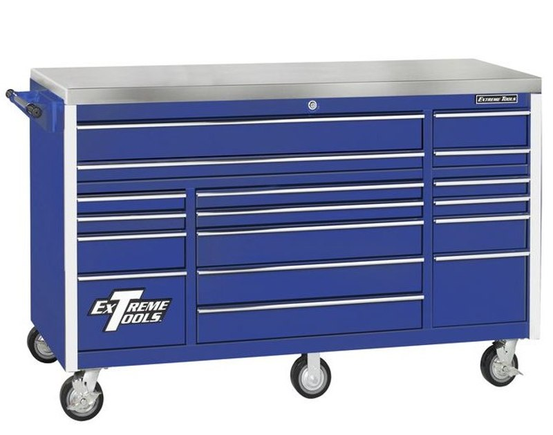"Extreme Tools 72"" 17 Drawer Roller Cabinet - EX7217RC"