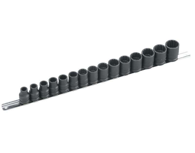 "15 Piece 1/2"" Dr. 12-point Metric Impact Socket Set GS-415M"