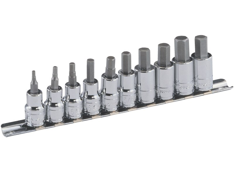 "10 Piece 3/8"" Dr. Metric Hex Bit Socket Set BS-310HM"