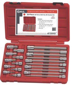 "20 Piece 3/8"" Dr. SAE Hex Bit Socket Set BS-320HSX"