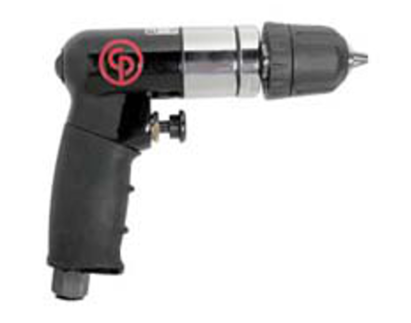 "Chicago Pneumatic 1/4"" Mini Reversible Air Drill with Keyless Chuck CP7300RQC"