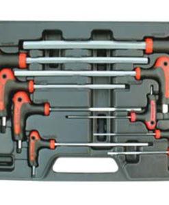 Astro Pneumatic 9 Piece SAE Cushin Handle Hex Set AO1027