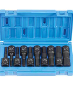 """Grey Pneumatic 1/2"""" Drive 10 Piece Hex Driver Set GY1398H"""