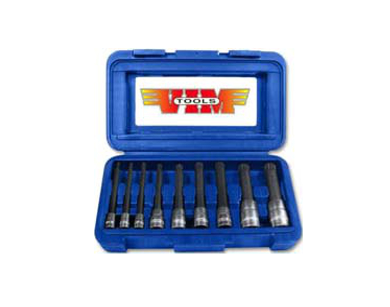 VIM 9 Piece Long Triple Square  12 Point Bit Set VMXZN400