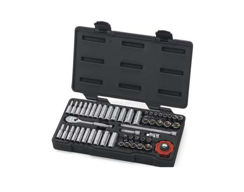 KD Tools 51 Piece 1/4 Drive 6 Point Socket Set KD80300