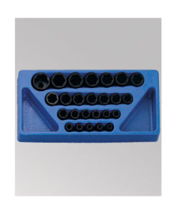 "Genius Tools 25 Pc. 1/2"" Dr. Metric Impact Socket Set TF-425M"