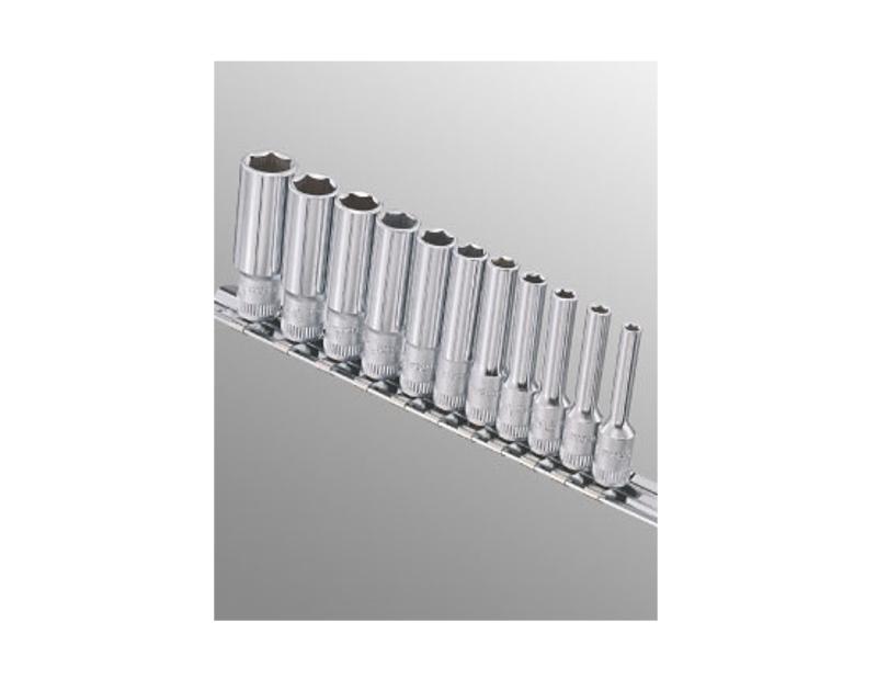 "Genius Tools 11 Pc. 1/4"" Dr. Metric Deep Socket Set GD-211M"
