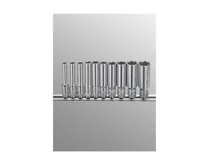 "Genius Tools 10 Pc. 1/4"" Dr. SAE Deep Socket Set GD-210S"