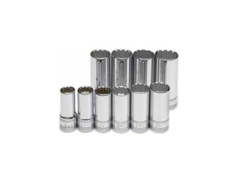 SK Tools 10 Pc. Deep Metric Spline Socket Set SK1870