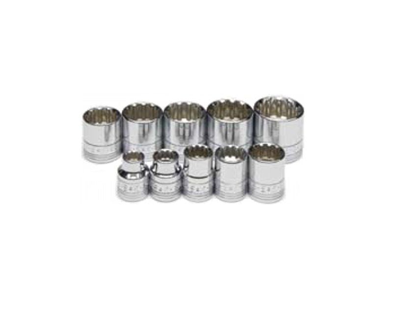 SK Tools 10 Piece SAE Spline Socket Set SK4670