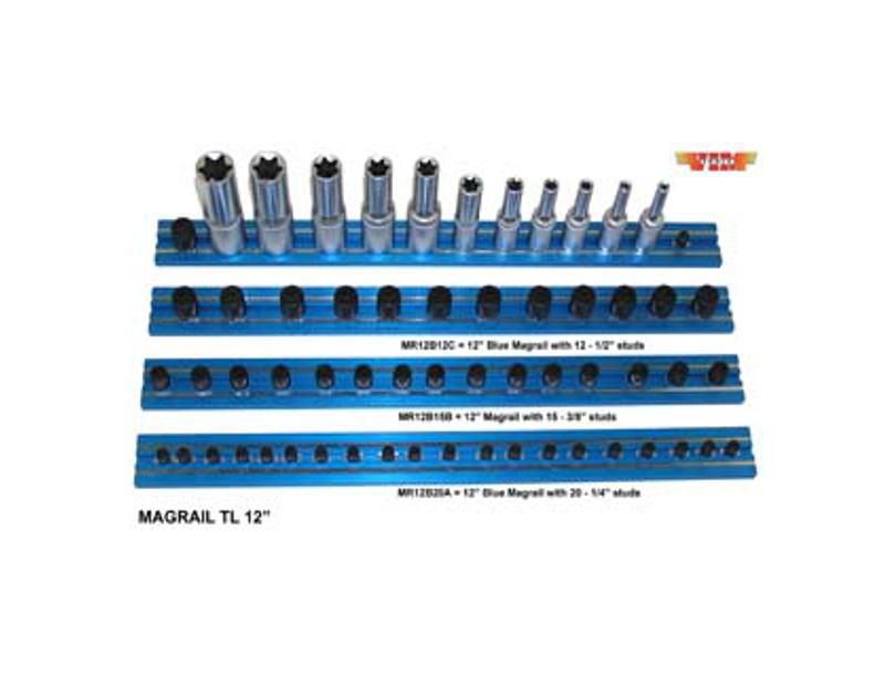 "VIM Magrail TL 16"" Long 20-3/8"" Blue Studs VMMR16B20B"