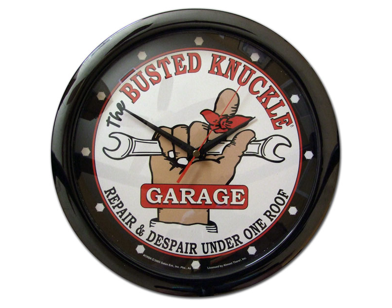 Busted Knuckle Battery Operated Wall Clock BKG-67