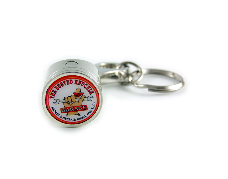 Busted Knuckle BKG Logo Piston Key Ring BKG-MH-1401