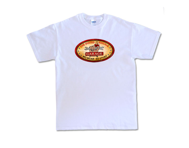 Busted Knuckle BKG Oval Logo T-Shirt BUST044-540
