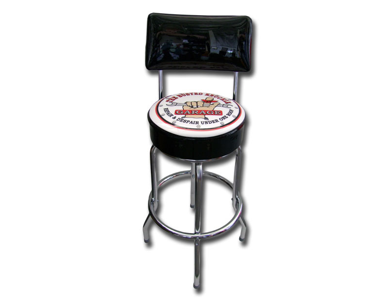 Busted Knuckle Backrest Bar Stool BKG-152