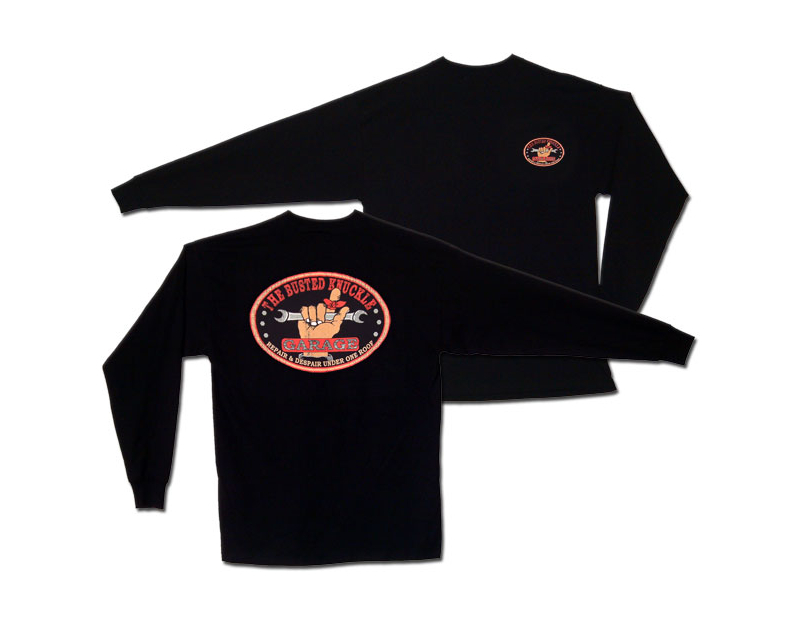 Busted Knuckle BKG Long Sleeve Logo T-Shirt BKG-T01LS