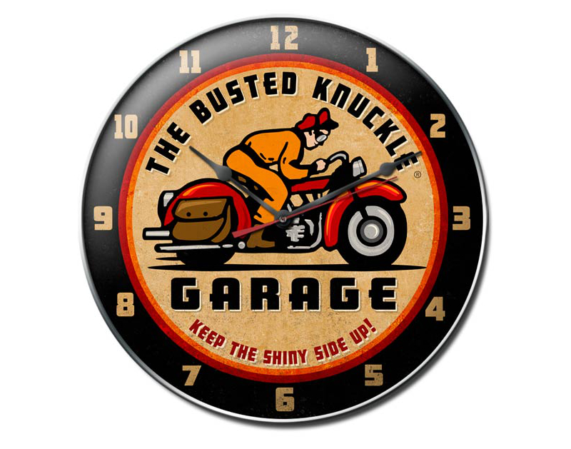 Busted Knuckle Vintage Motorcycle Wall Clock BKG-99-D