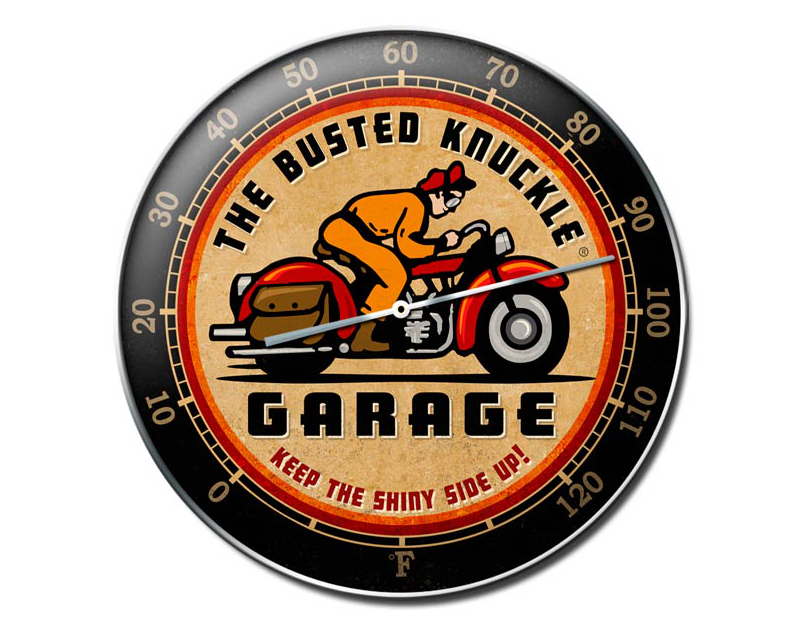 Busted Knuckle Vintage Motorcycle Wall Thermometer BKG-98-D