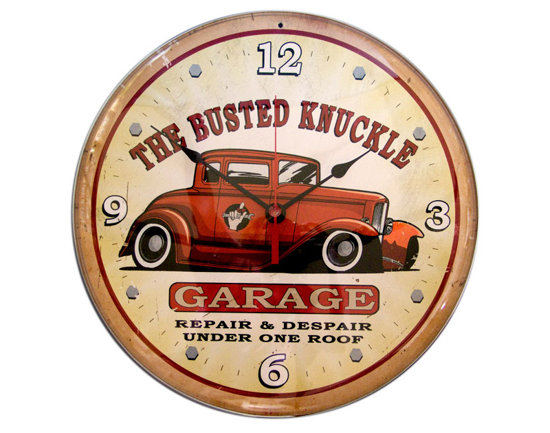 Busted Knuckle BKG Hot Rod Wall Clock BKG-167