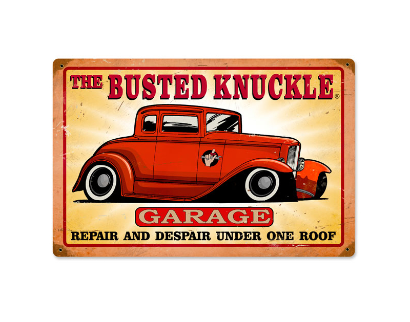 Busted Knuckle Hot Rod Shop Sign BKG-180