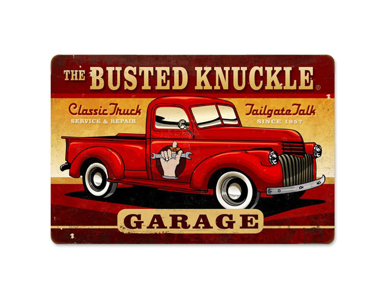 Busted Knuckle BKG Vintage Truck Shop Sign BKG-173-VT