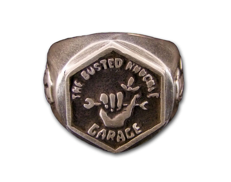 Busted Knuckle BKG Sterling Silver Ring BKG-JWL-RNG