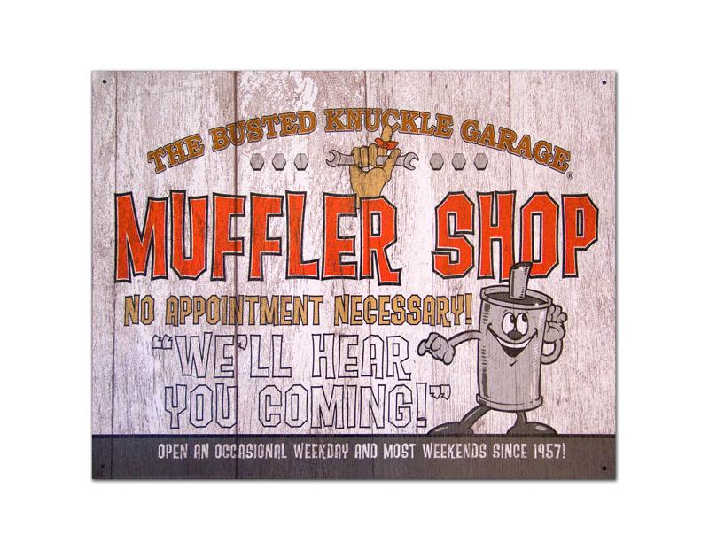 Busted Knuckle BKG Muffler Shop Sign BKG-21-MUF