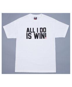 Eat Sleep Race All I Do Is Win T-Shirt (White)