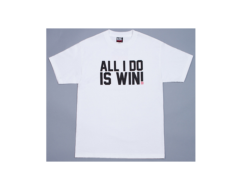 Eat Sleep Race All I Do Is Win T-Shirt (White)