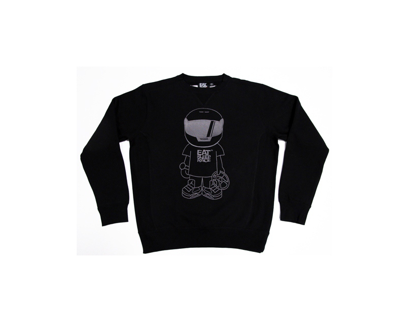 Eat Sleep Race Bobblehead Sweatshirt (Blk)