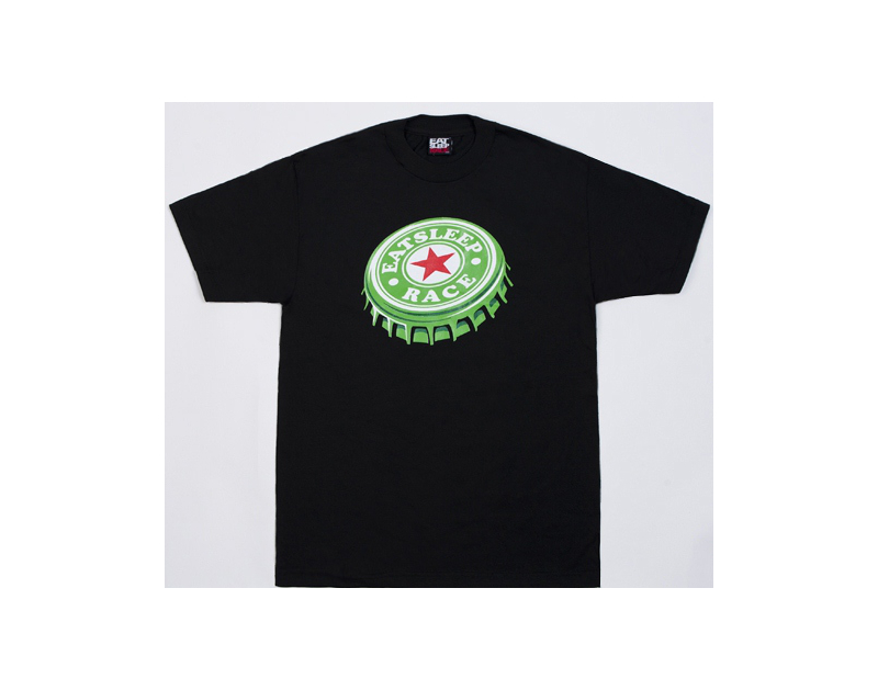 Eat Sleep Race Bottlecap T-Shirt (Blk)