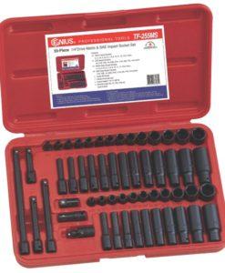 """55 PC 1/4"""" Dr. Metric & SAE Impact Socket Set TF-255MS"""