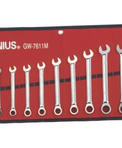 11 Piece Metric Combination Ratcheting Wrench Set GW-7611M