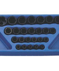"25 Piece 1/2"" Dr. 6-Point Metric Impact Socket Set TF-425M"