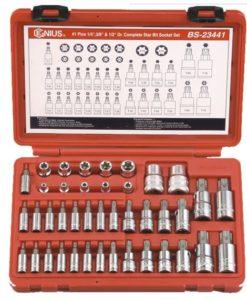 """41 Piece 1/4"""", 3/8"""" & 1/2"""" Dr. Complete Star Socket Set BS-23441"""