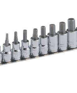 """10 Piece 3/8"""" Dr. Metric Hex Bit Socket Set BS-310HM"""
