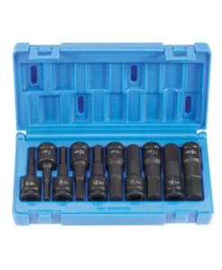 """Grey Pneumatic 1/2"""" Drive 10 Pc Metric Hex Driver Set GY1498MH"""
