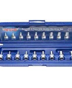 VIM 9 Piece Stubby Hex Bit Set 3/32-3/8 VMSHI400