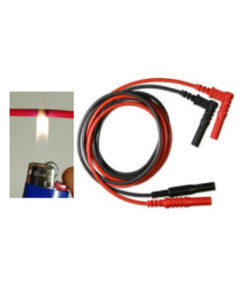 Silvertronic Test Leads, Silicone, 1.2m, Black and Red 129301