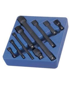 """Genius Tools 9 Pc. 1/4"""", 3/8"""" & 1/2"""" Impact Extension Set IE-2349"""