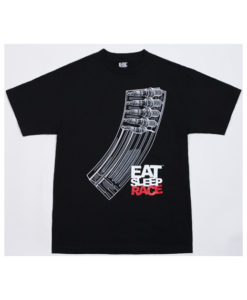 Eat Sleep Race Banana Clip T-Shirt (Blk)