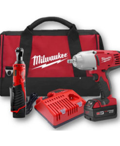 "Milwaukee M18 1/2"" Impact Wrench Kit w/ M12 Ratchet MWK2793-22"